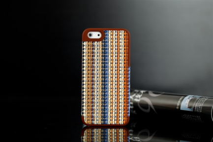 Чехол для iPhone 5 с плетением- patterning case (коричневый)