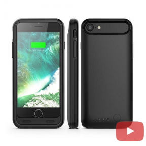 Чехол батарея iFans для iPhone 7/8 space black 3100 mah