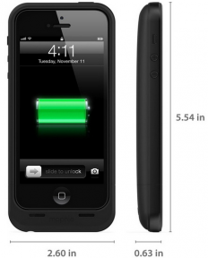 mophie juice pack air для iPhone 5/5S black