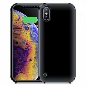 Чехол батарея для iPhone XR 4500 mAh black