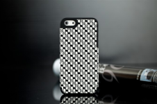 Чехол для iPhone 5 с плетением- patterning case (черный)