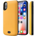 Чехол зарядка для iPhone 10/XS Battery Case 5000 mah Yellow