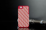 Чехол для iPhone 5 с плетением- patterning case (красный)