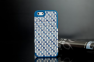 Чехол для iPhone 5 с плетением- patterning case (синий)